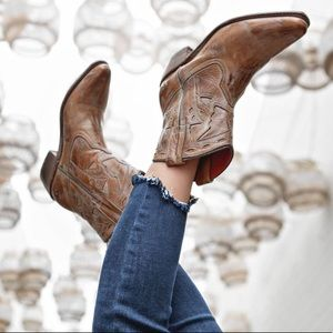 Bed Stu Distressed Tan Filly Booties